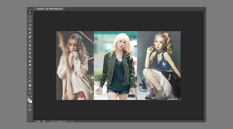 """วิธีนำรูปภาพมาวางซ้อนกันใน Photoshop และจัดลำดับรูปด้วย """"Layer"""""""
