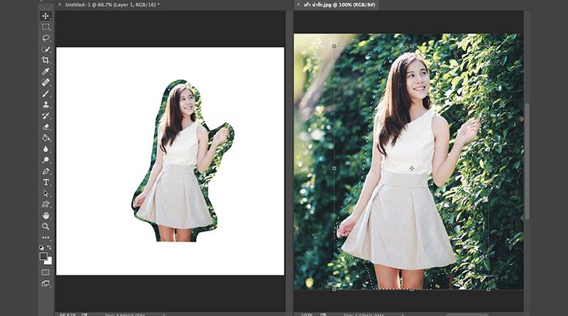 วิธีใช้ Select เลือกพื้นที่และตัดต่อรูปขั้นพื้นฐานใน Photoshop